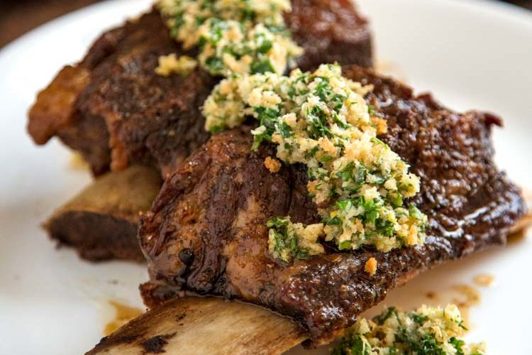 Baked Beef Short Ribs with Gremolata