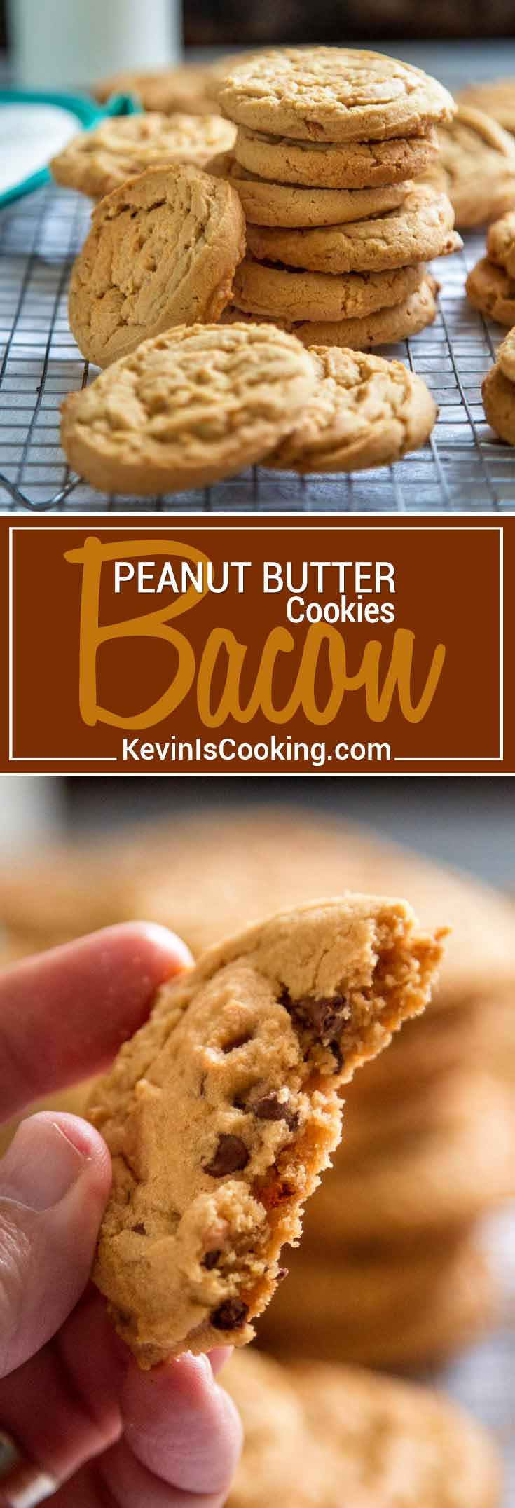 These amazing Peanut Butter Bacon Cookies are beyond tender and rich in mellow, subtle flavor. They get a smokey undertone using bacon fat instead of butter. Yes, bacon fat. So good!