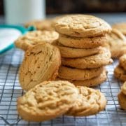 These amazing Peanut Butter Bacon Cookies are beyond tender and rich in mellow, subtle flavor. They get a smokey undertone using bacon fat instead of butter. Yes, bacon fat. keviniscooking.com