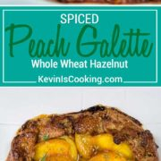 Ripe, juicy peaches are used in this whole wheat and ground hazelnut dough for a Summer free form pie. This Spiced Peach Galette is perfect for any BBQ or picnic party!