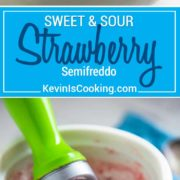 This Sweet and Sour Strawberry Semifreddo with Black Sesame is an Italian semi frozen mousse-like dessert with a Chinese influenced flavor twist!