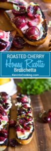 With this Summer's amazing cherry bounty I figured a twist on the traditional bruschetta was in order. This Cherry Ricotta Bruschetta does not disappoint and is so easy for your next BBQ, picnic or party appetizer!