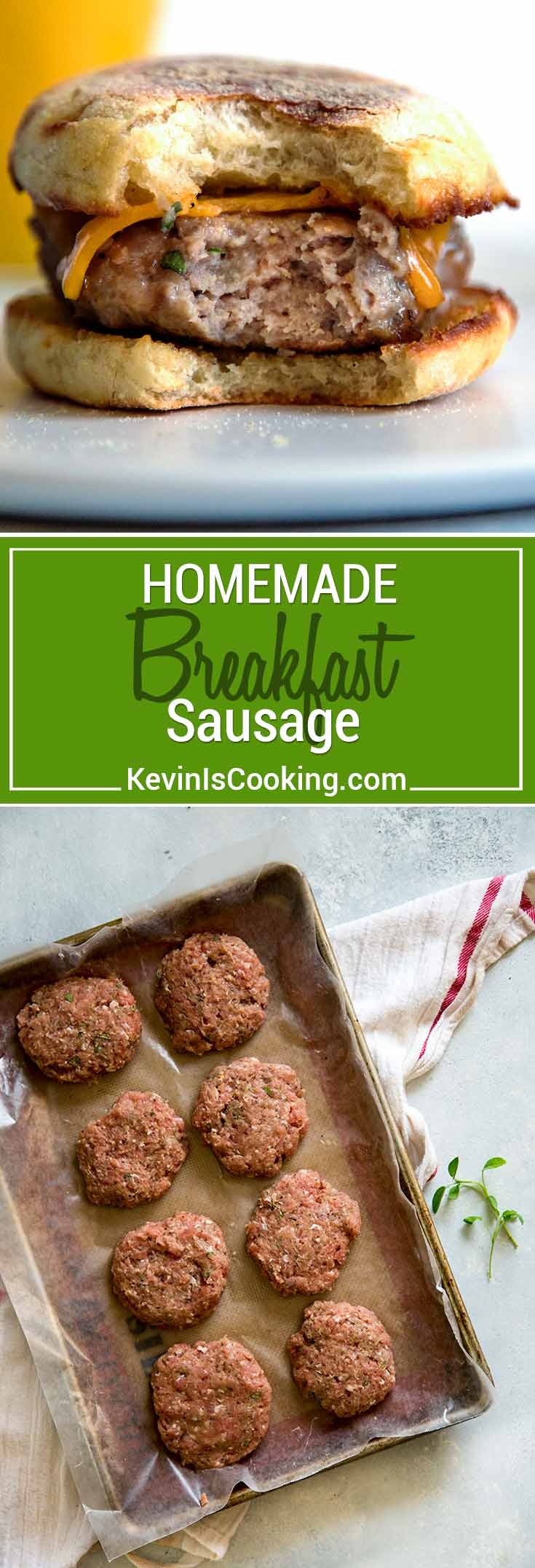 A combination of ground turkey and pork is my favorite and with a little maple syrup and spices, you can have Homemade Breakfast Sausage in mere minutes!