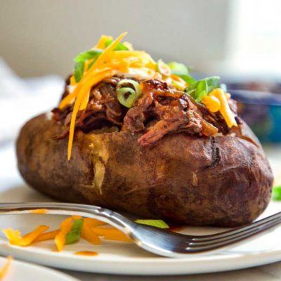 BBQ Beef Stuffed Potatoes