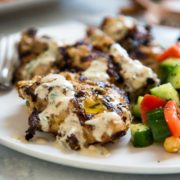 Tahini Marinated Grilled Chicken is not over powering in sesame flavor, but the tahini adds an almost tenderizing quality to the chicken and amazing flavor. keviniscooking.com