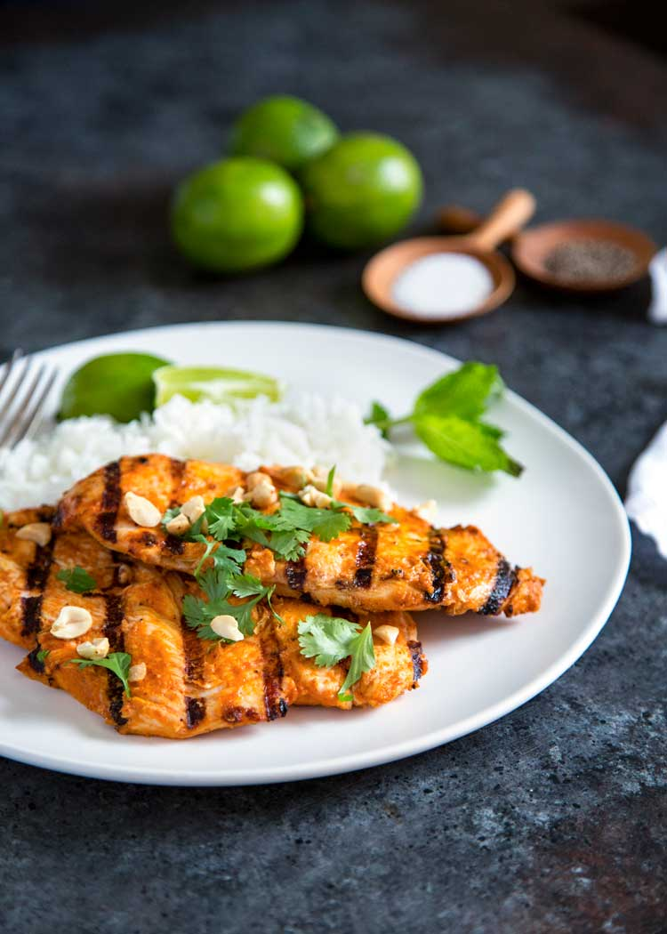 Grilled Thai Red Curry Chicken - Kevin Is Cooking
