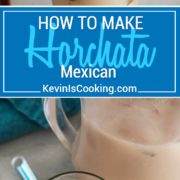 Horchata is a sweet, non-alcoholic Mexican beverage made from water, rice and cinnamon. My tasty version has a few ingredients that other recipes lack. So easy your family will love this one!