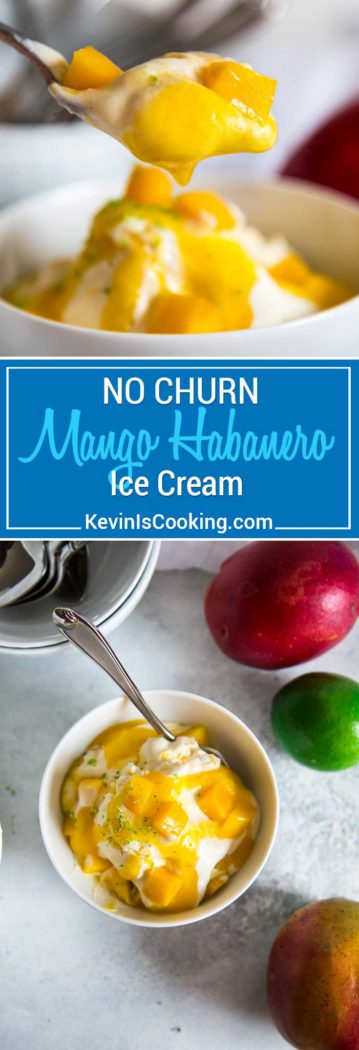 ThisNo Churn Mango Ice Cream has a secret flavor weapon and it's Tabasco's Habanero Sauce, just one teaspoon, and it delivers the most wonderful accent. A must try!