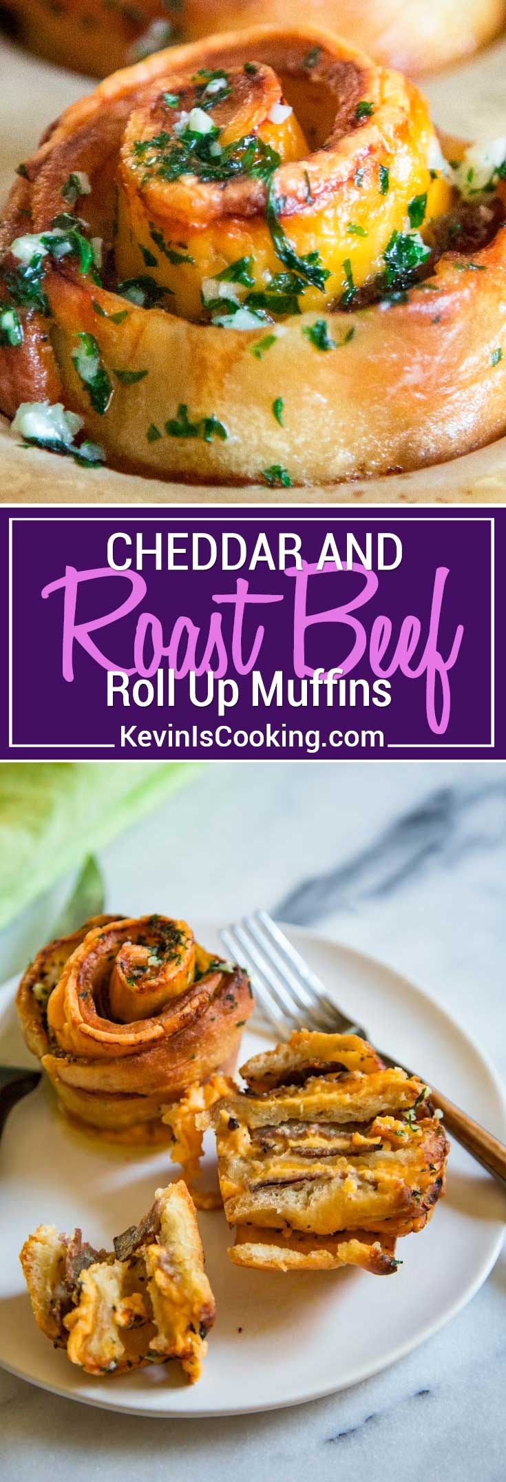 My baked Roast Beef Cheddar Muffins start with pizza dough smothered in dijon horseradish cream and layered with slices of tender roast beef and cheddar cheese! Perfect Game Day snacking.