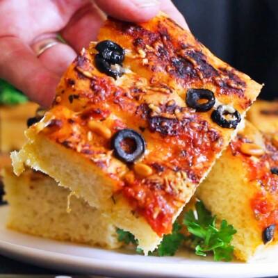 Zesty Homemade Focaccia Bread