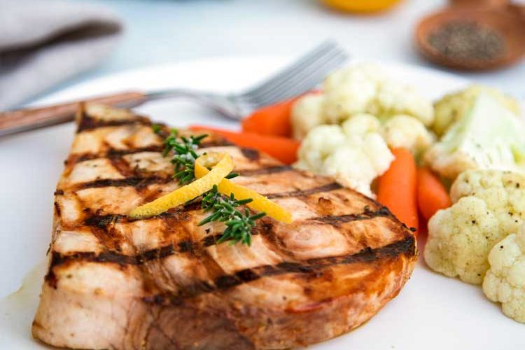 Lemon Rosemary Grilled Swordfish