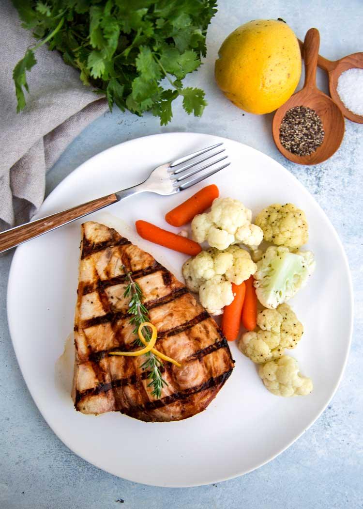 Grilled Steaks With LemonHerb Marinade  Recipe  Cookscom