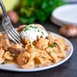 One Pan Creamy Chicken Stroganoff