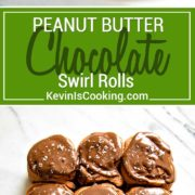 These Peanut Butter Chocolate Rolls are my spin on the classic homemade cinnamon roll. A peanut butter filling is rolled inside and a chocolate dough and is topped with a Nutella cream cheese glaze.