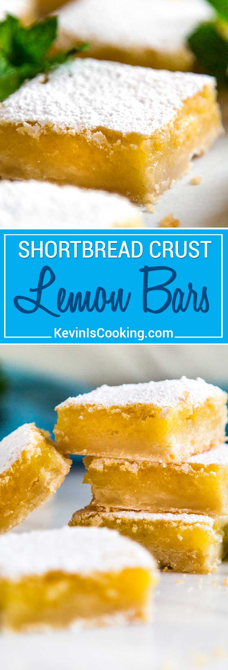 These Shortbread Lemon Bars are tart, sweet and the shortbread crust is crumbly soft. The perfect summer picnic dessert that can be enjoyed year round!