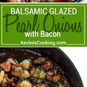 balsamic glazed white pearl onions with bacon