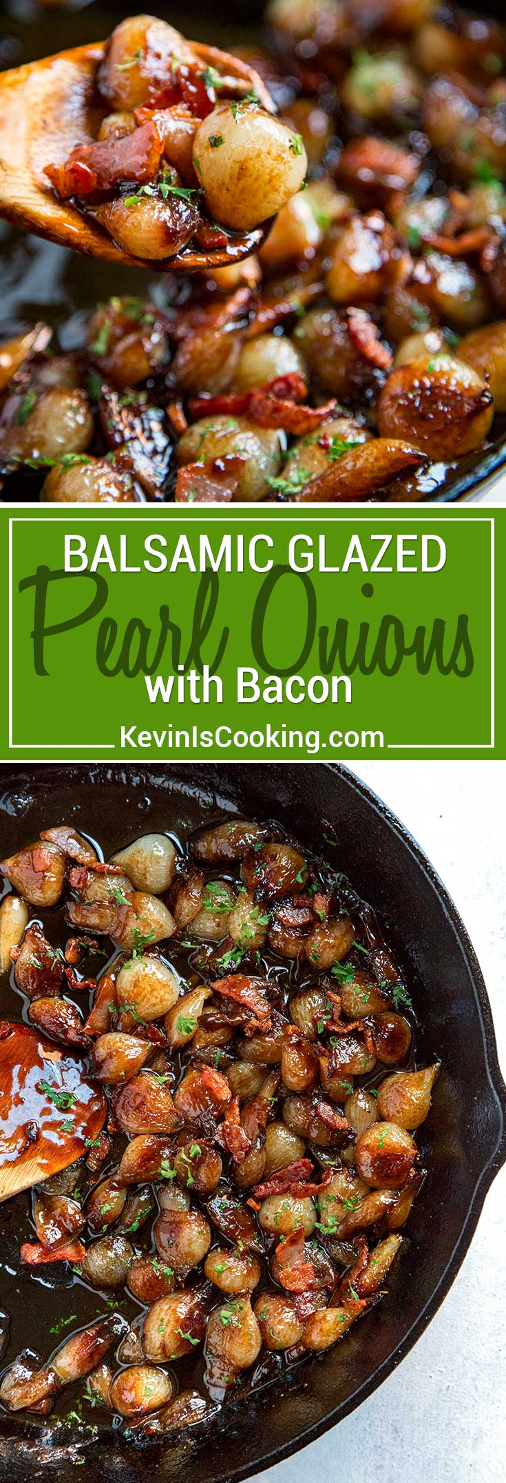 These Balsamic Glazed Pearl Onions with Bacon are perfect for any dinner table as a side dish or spooned over roasted or grilled meat. The caramelization!