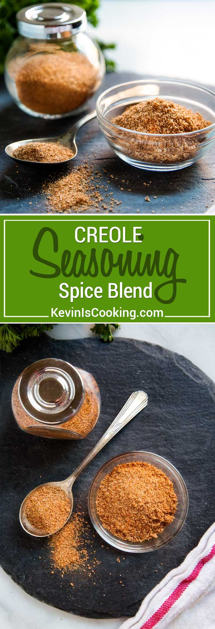 This Creole Seasoning Spice Blend is made with most items already in your spice cabinet without the loaded salt that comes with pre-packaged spice blends.