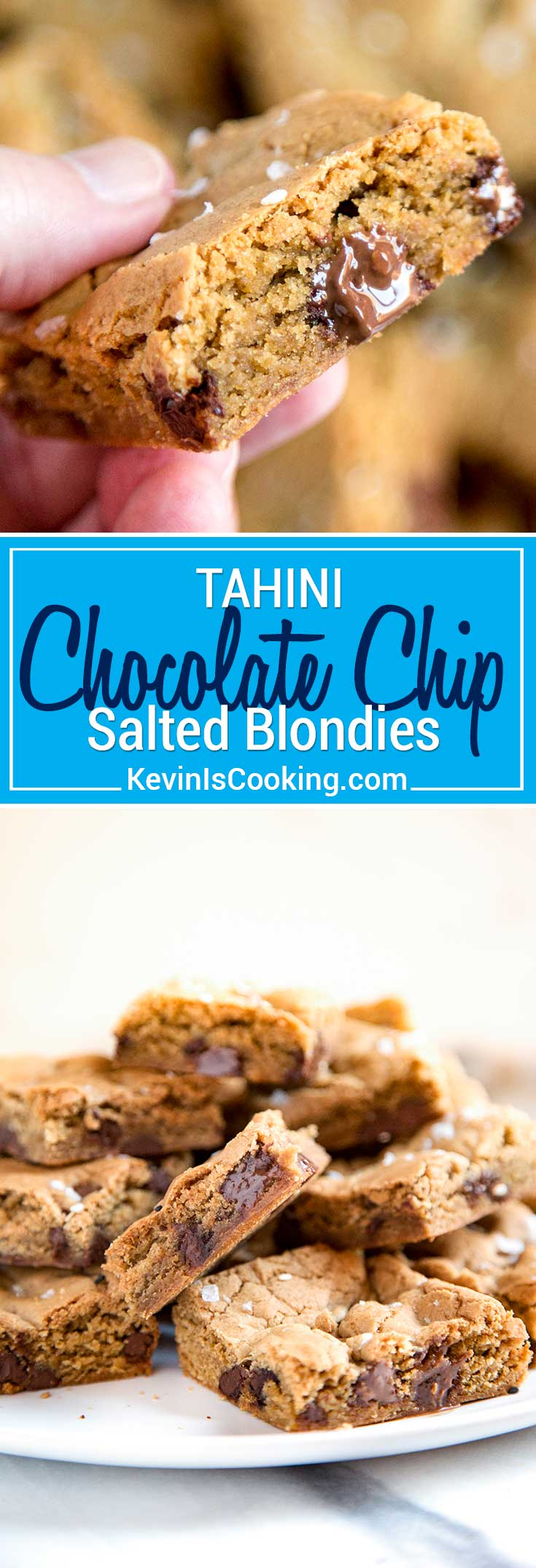 My Tahini Blondies get an update using tahini, which adds a nutty richness and elevates the average blondie to a sophisticated and tasty dessert bar.