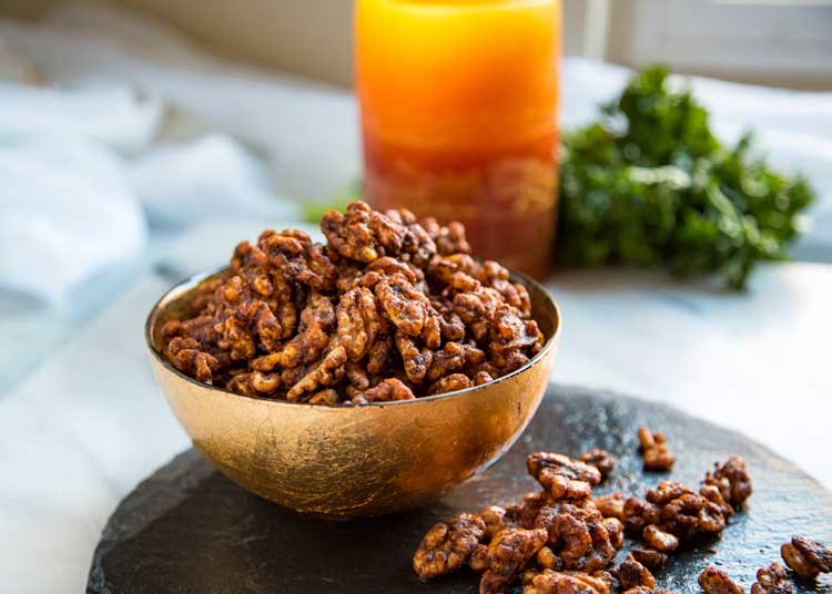 These addictive Smoky Spicy Walnuts get toasted in the oven after getting coated in a warm blend of curry powder, soy sauce, melted butter and Tabasco. keviniscooking.com