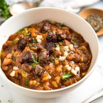 Mixed Bean Beef and Barley Soup