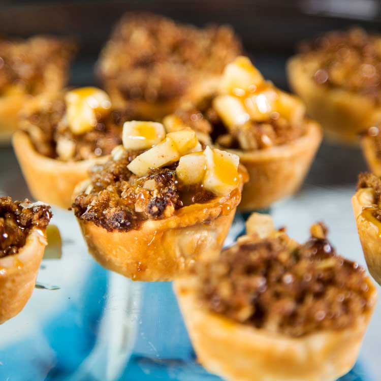 Mini Peanut Butter Apple Pies - Kevin Is Cooking