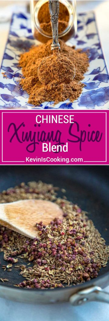 Toasted cumin and red Szechuan peppercorns work their magic in Xinjiang Spice Blend, a spice blend that is fantastic on grilled or BBQ lamb and other meats.