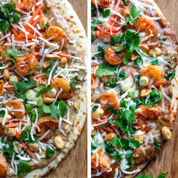 Amazing Thai Shrimp Pizza