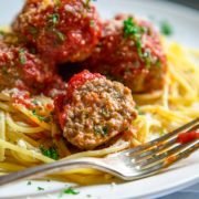 Classic Beef Meatballs. Round, tender, juicy, not dried out and packed with flavor. Mine use ground beef, are light in breadcrumbs, get added fat from ricotta cheese and are seasoned beautifully with red pepper flakes and ground fennel. keviniscooking.com