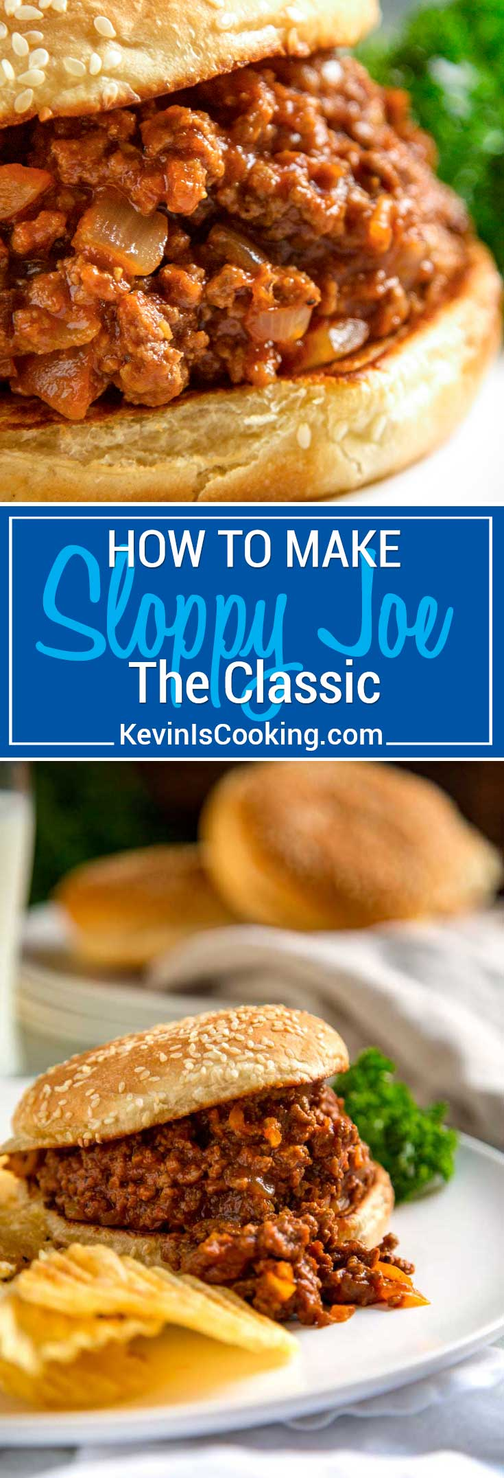The classic Sloppy Joe sandwich is an American loose meat sandwich, consisting of browned ground beef, tomato sauce, mustard, Worcestershire sauce and other seasonings served on a toasted hamburger bun. #sloppyjoe #sandwich