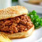 The classic Sloppy Joe sandwich is an American loose meat sandwich, consisting of browned ground beef, tomato sauce, mustard, Worcestershire sauce and other seasonings served on a toasted hamburger bun. keviniscooking.com