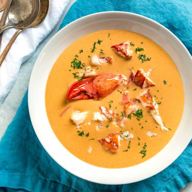 Lobster B Soup Creamy Lobster ...