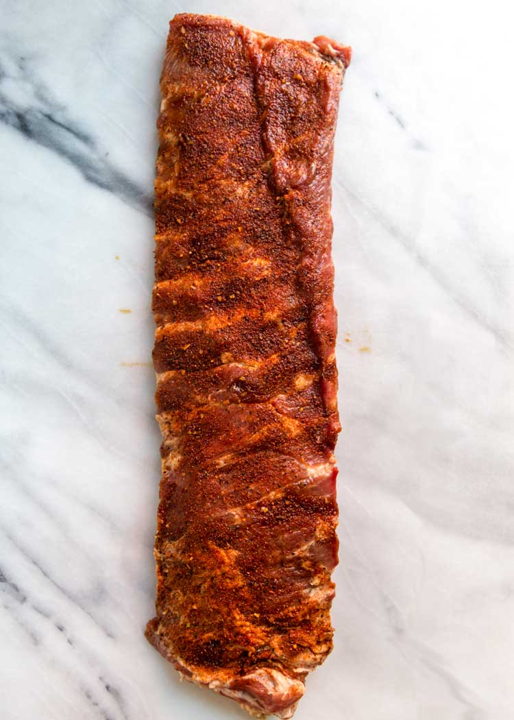 dry rubbed St. Louis Style Ribs