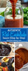 This Authentic Red Enchilada Sauce is made from scratch using dried chiles, onions, tomatoes, garlic and herbs. I'll show you step by step how to make it and you'll never used canned again.