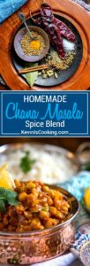 For my Chana Masala Spice Blend, a traditional Indian seasoning used for chickpeas (chana) dishes, I toast spices like cinnamon, coriander, fenugreek, fennel and others then grind to a powder for that special touch. Better than store bought and make in small batches to stay fresh.