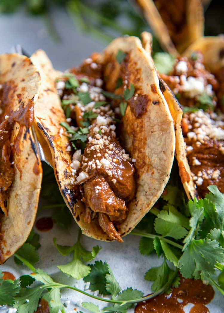 Instant Pot Chicken Mole Tacos