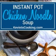 Using bone in chicken, sautéed vegetables and herb aromatics like parsley and dill, this Easy Instant Pot Chicken Noodle Soup is an all in one pot meal to warm you up and cure what ails you. All made in 30 minutes!