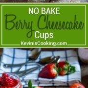 These No Bake Strawberry Cheesecake Cups are made with crushed graham crackers, cream cheese and Greek yogurt and fresh fruit. They're perfect for kids parties, the next office potluck or when that sweet tooth impulse strikes. Small, individual servings and no baking required!