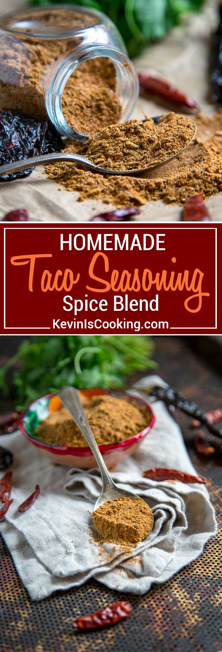 For my Homemade Taco Seasoning I keep things uncomplicated, but packed with a true flavor punch. Pantry staple herbs and spices are used like cumin, oregano, chili powder, but I find Mexican oregano is best, ancho chili powder because it's just that, not a mix of chilies and little salt. #taco #spiceblend #tacoseasoning