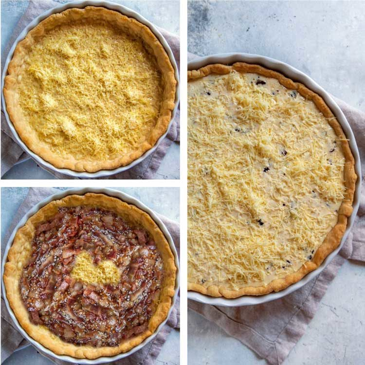 step photos of How to Make Quiche Lorraine