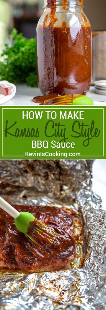 My Kansas City Style BBQ Sauce stays true to the traditional and is on the sweet side using a brown sugar base, but is balanced with chili powder and black pepper that gets simmered with molasses, yellow mustard and other warm spices. Used on Kansas City Style Ribs that are typically characterized by this thick, sticky sauce brushed on in the last 30 minutes of cooking.