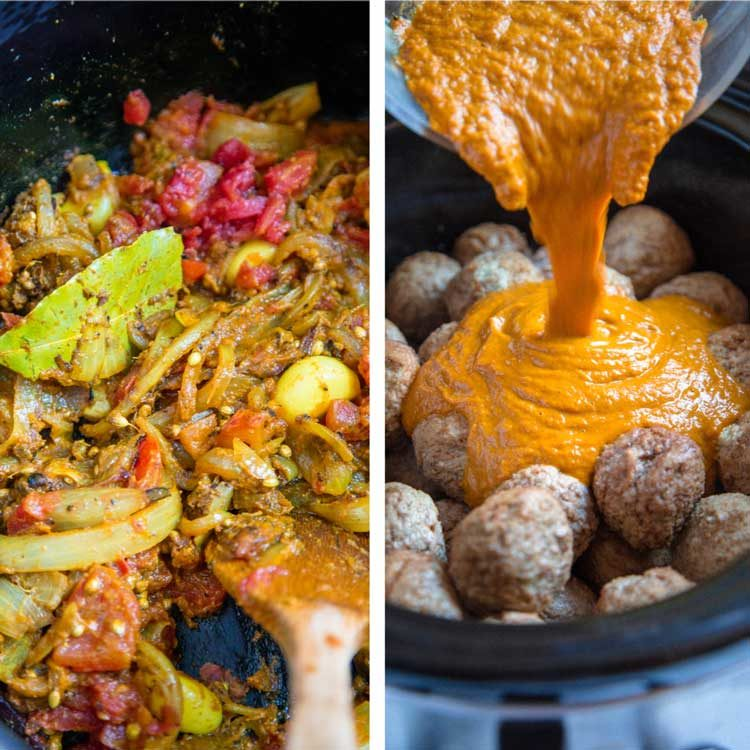 step photo of Pan Roasted Turkey Meatball Curry