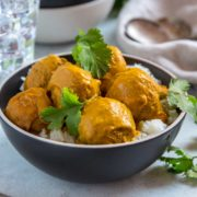 Slow Cooker Turkey Meatball Curry