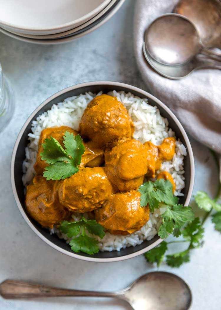 Pan Roasted Turkey Meatball Curry