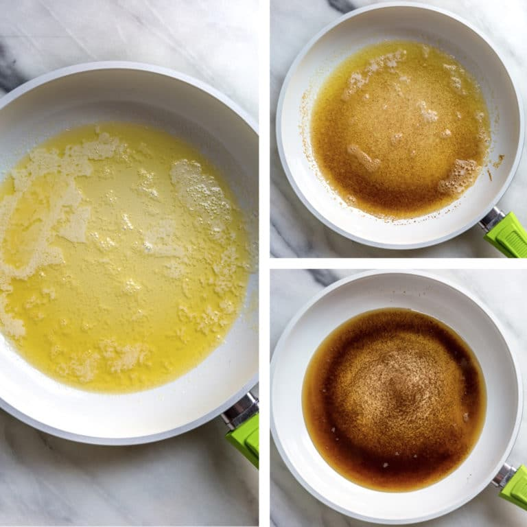 step photos of browned butter