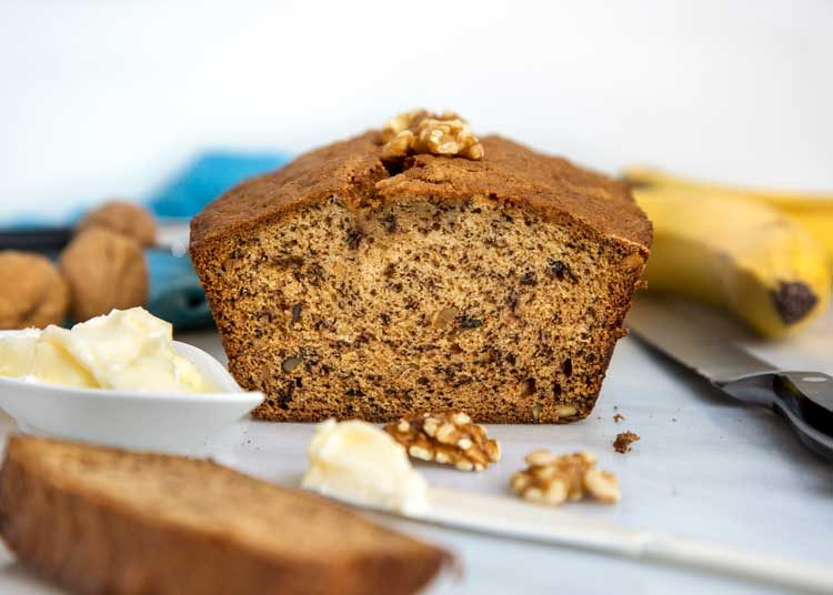 Walnut Brown Butter Banana Bread