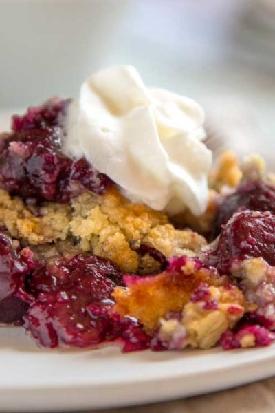 Old Fashioned Cherry Crisp