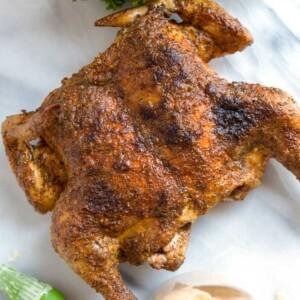 grilled spatchcock chicken