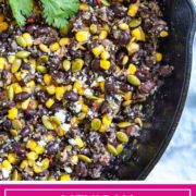 These Mexican Beans and Corn (Frijoles con Elote) get a flavor boost from a sofrito made of chiles, onion and garlic dry roasted and then blended together.