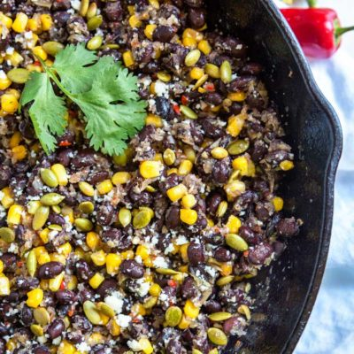 Mexican Black Beans and Corn (Frijoles con Elote)